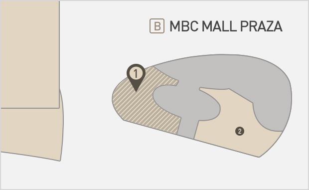 MBC Mall Plaza 1층  올리브영 위치