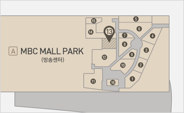 MBC Mall Park  지하1층  코코이찌방야 위치