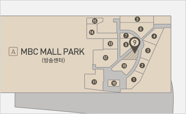MBC Mall Park  지하1층  스쿨스토어 위치